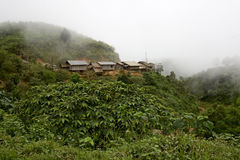 Hmong village in the mountains, Laos Stock Image