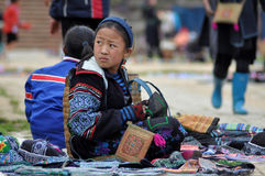 Hmong woman Chinese minority in Sapa, Vietnam Stock Images