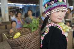Hmong woman in Laos Stock Photo