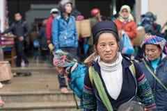 Hmong woman in Sapa, Vietnam Stock Photos