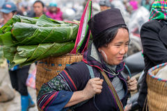 Hmong woman in Sapa, Vietnam Stock Images