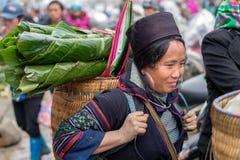 Hmong woman in Sapa, Vietnam Stock Images