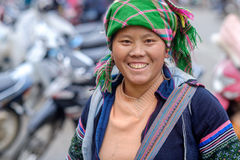 Hmong woman in Sapa, Vietnam Stock Image