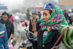 Hmong woman in Sapa, Vietnam Stock Photos