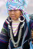 Hmong woman in Vietnam Stock Photo