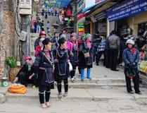 Hmong women in Sapa Stock Images