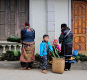 Hmong women in Sapa Royalty Free Stock Photos
