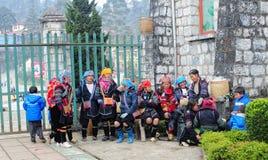 Hmong women in Sapa Royalty Free Stock Photography