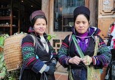 Hmong women in Sapa Stock Photos