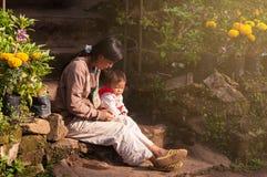 Hmongfamilie Royalty-vrije Stock Afbeeldingen