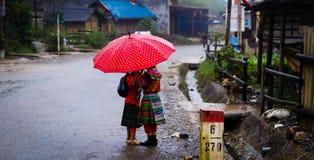 Hmongjong geitje het spelen op de vuile sleep stock afbeeldingen