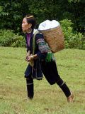 Hmongvrouw Royalty-vrije Stock Foto's