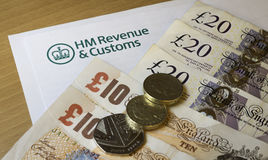 HMRC-Buchstabe Stockfoto