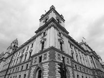 HMRC in London black and white. LONDON, UK - CIRCA JUNE 2017: HMRC Her Majesty Revenue and Customs building in black and white Stock Images