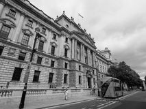 HMRC in London black and white. LONDON, UK - CIRCA JUNE 2017: HMRC Her Majesty Revenue and Customs building in black and white Stock Photos