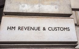 HMRC in London, hdr. LONDON, UK - CIRCA JUNE 2017: HMRC Her Majesty Revenue and Customs sign, high dynamic range Stock Photos