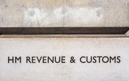HMRC in London (hdr). LONDON, UK - CIRCA JUNE 2017: HMRC Her Majesty Revenue and Customs sign (high dynamic range Royalty Free Stock Image