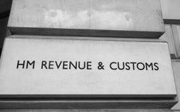 HMRC in London Schwarzweiss Lizenzfreie Stockfotos