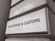 HMRC in London. LONDON, UK - CIRCA JUNE 2017: HMRC Her Majesty Revenue and Customs sign Stock Photography