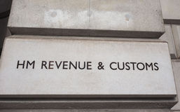 HMRC in London. LONDON, UK - CIRCA JUNE 2017: HMRC Her Majesty Revenue and Customs sign Stock Photo