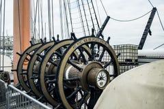 HMS战士指挥轮子 图库摄影