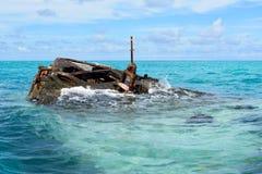 HMS泼妇海难,萨默塞特村庄,百慕大 库存图片