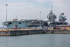 HMS英国女王伊丽莎白二世航空母舰 库存图片