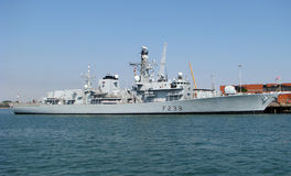 HMS里士满(F239) 库存图片