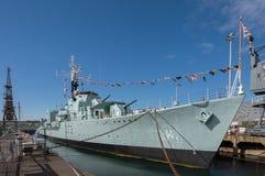 HMS骑士在查塔姆造船厂 库存图片