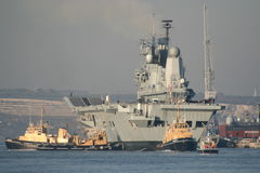 HMS Ark Royal returns home stock photography
