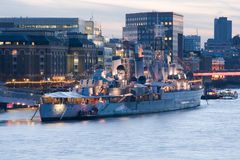 HMS Belfast Royalty Free Stock Photos