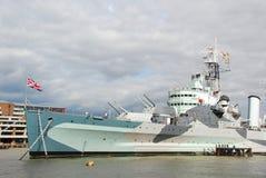 HMS Belfast foto de stock royalty free