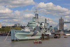 HMS Belfast photos libres de droits
