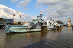HMS Belfast Royaltyfri Fotografi