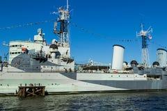 HMS Belfast Royaltyfria Foton