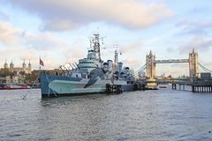 HMS Belfast Stockfotos