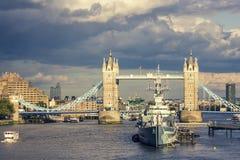 HMS Belfast Images libres de droits