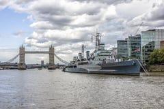HMS Belfast Photographie stock libre de droits