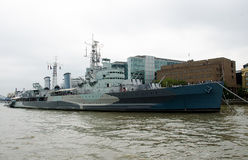HMS Belfast Fotos de Stock Royalty Free