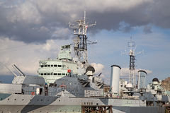 HMS Belfast image stock