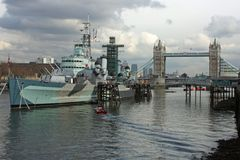 HMS Belfast Foto de archivo libre de regalías