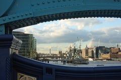 HMS Belfast. Docked in London's harbor Stock Photos