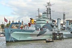 HMS Belfast Stock Photos
