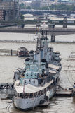 HMS Belfast London Royalty Free Stock Image