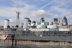 HMS Belfast in London Royalty Free Stock Image