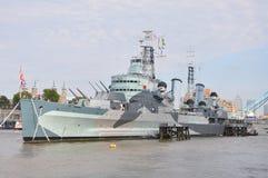 HMS Belfast in London Royalty Free Stock Photos
