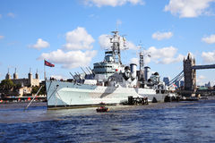 HMS Belfast Stock Photo