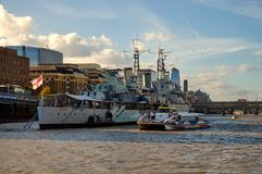 HMS Belfast in London Royalty Free Stock Images