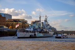 HMS Belfast in London Royalty Free Stock Photos