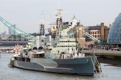 HMS Belfast Londyn Fotografia Royalty Free